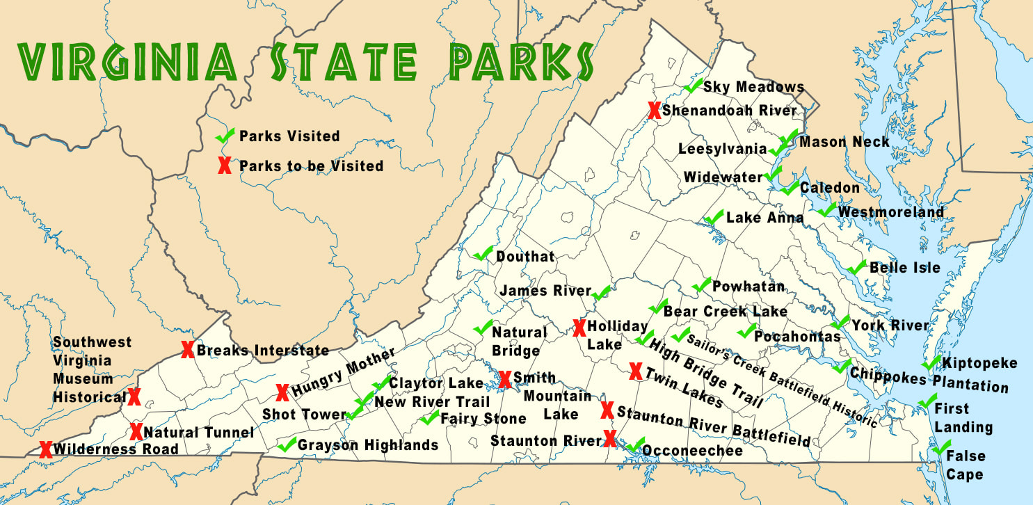 Map Of Virginia State Parks Virginia State Parks   Carl J. Shirley