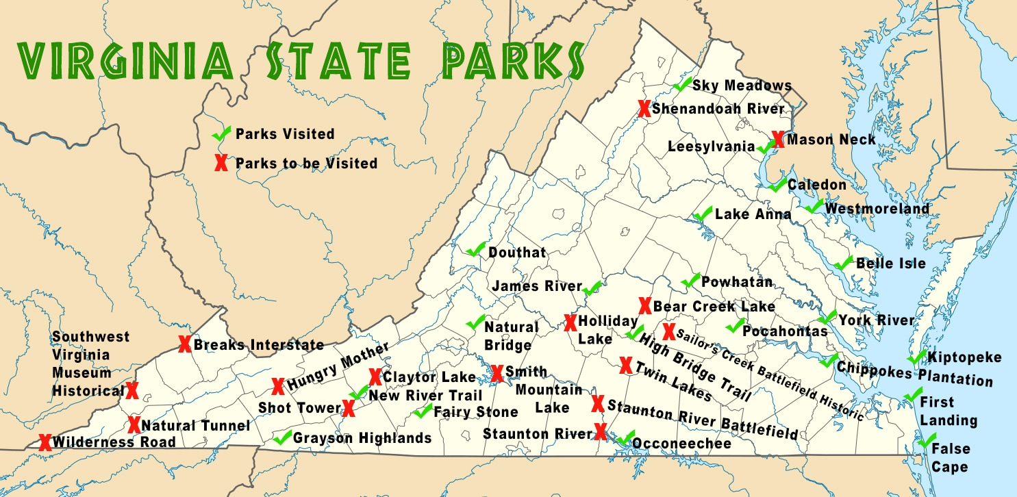 Virginia State Parks Map Virginia Map - Virginia maps state